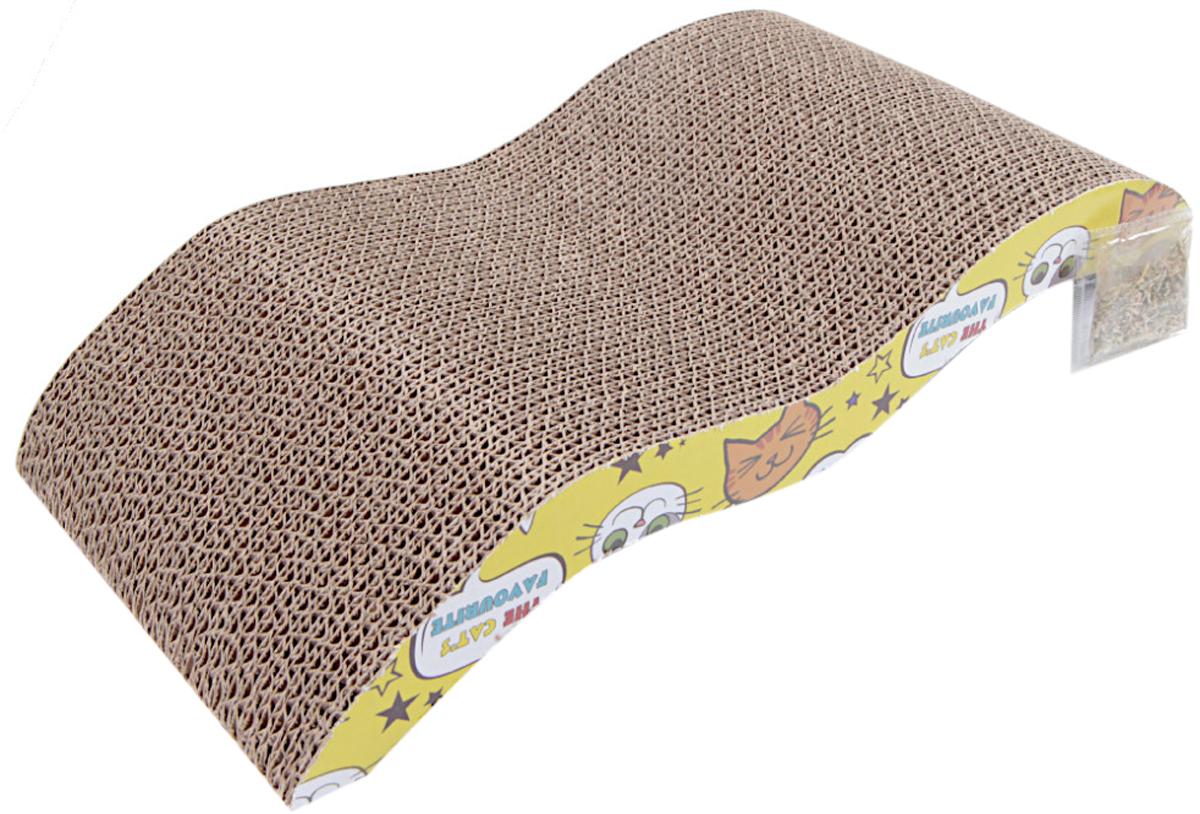 Когтеточка коврик Pet Choice картонная с кошачьей мятой 45 х 21 х 7,5 см (1 шт)
