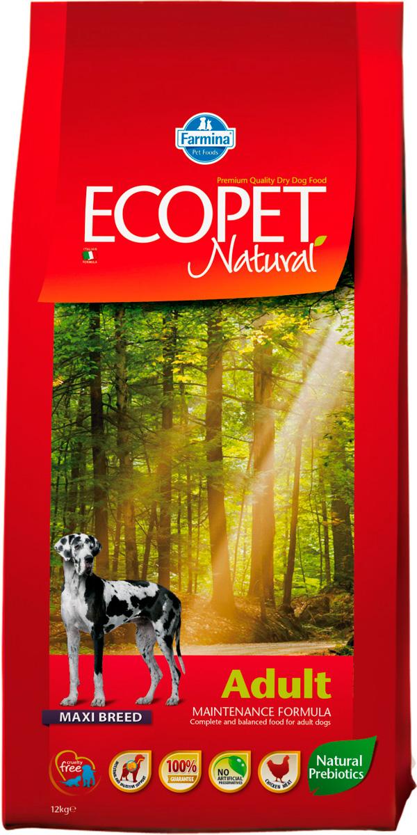 Ecopet Natural Adult Maxi для взрослых собак крупных пород с курицей (12 + 12 кг)