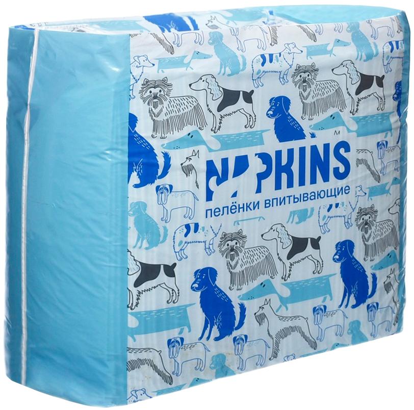 Napkins пеленки впитывающие гелевые для животных 60 х 40 см (5 шт)