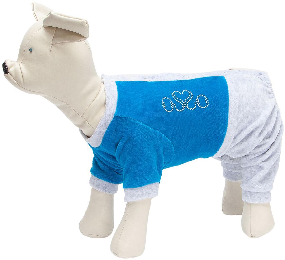 Osso Fashion костюм спортивный для собак велюр бирюза (22)
