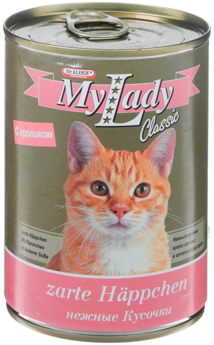 Dr. Alder's My Lady Classic для взрослых кошек с кроликом в соусе 415 гр (415 гр х 24 шт)