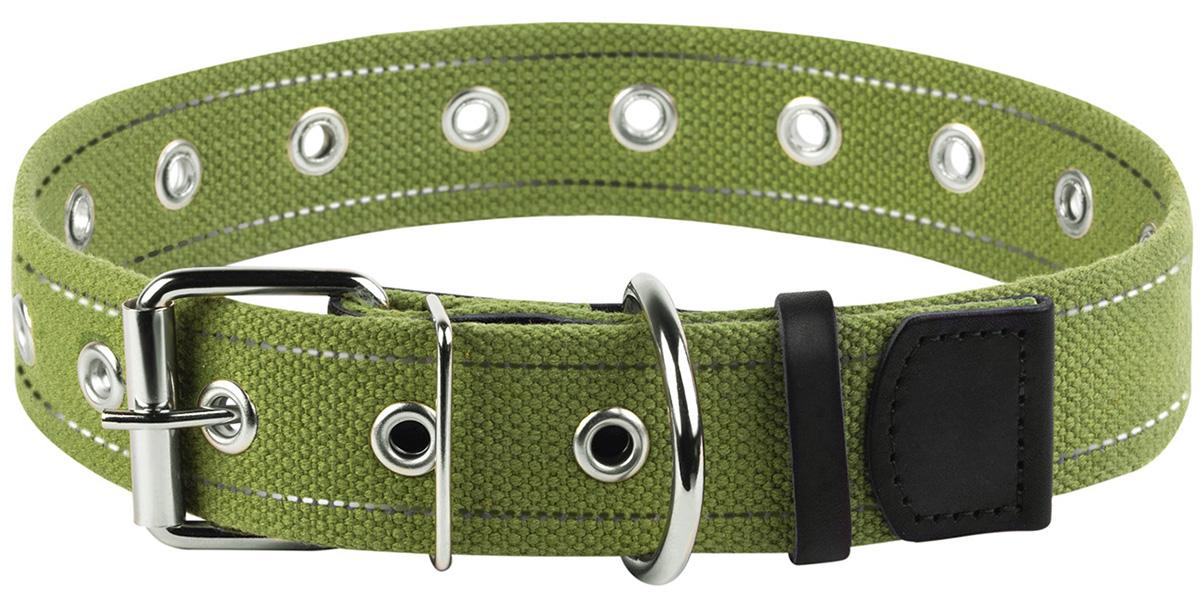 Ошейник брезентовый для собак безразмерный 35 мм 63 см Collar (1 шт) фото