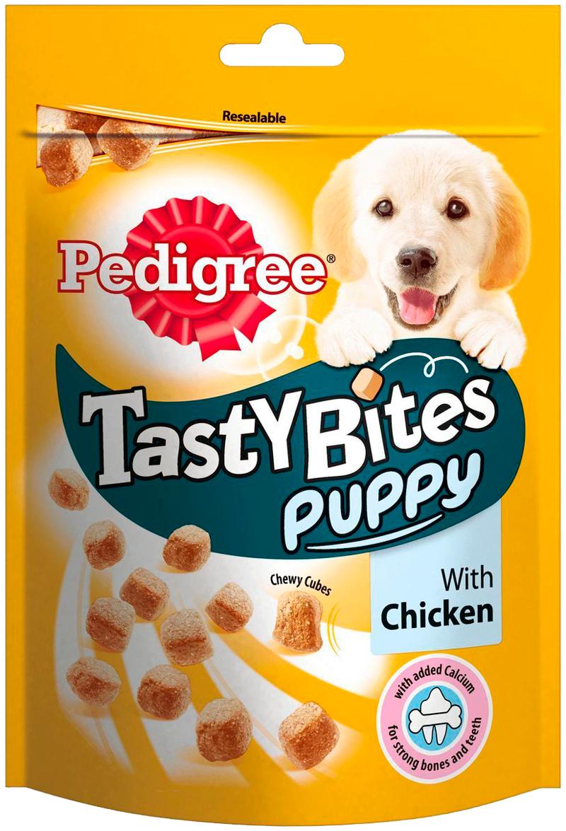 Лакомство Pedigree Tasty Bites Puppy для щенков ароматные кусочки с курицей (125 гр)