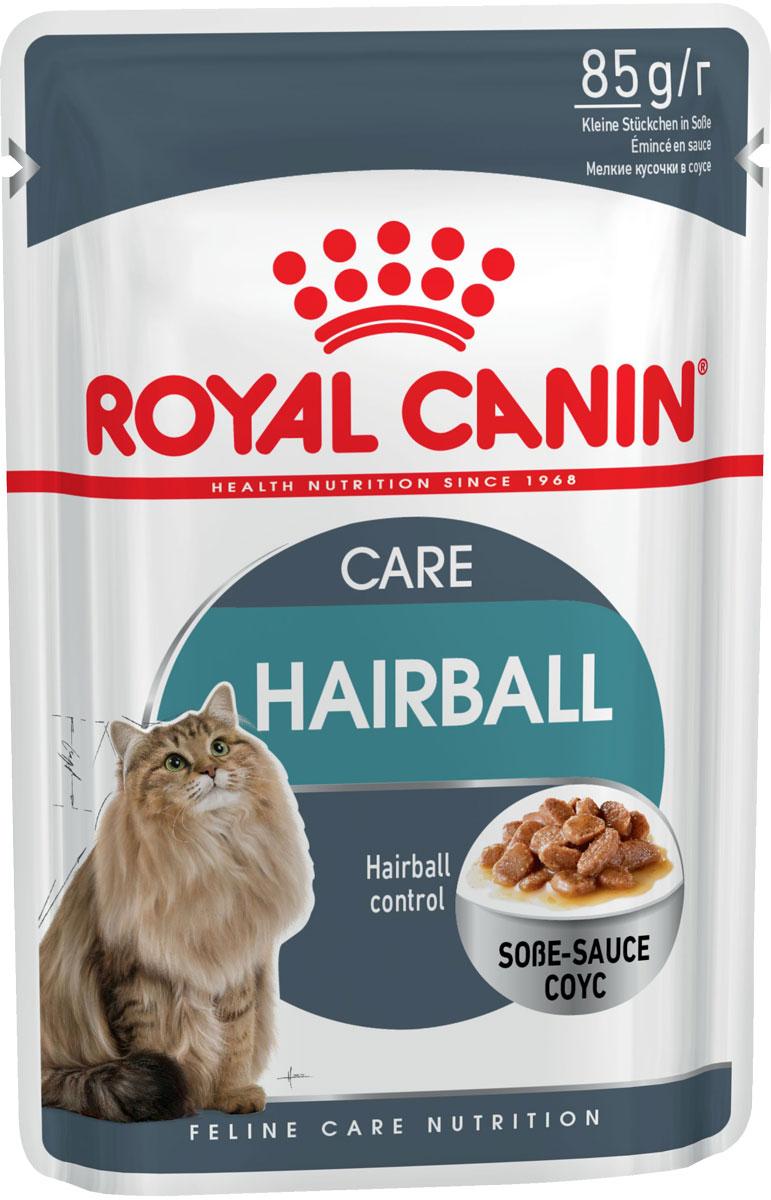 Royal Canin Hairball Care для взрослых кошек для вывода шерсти в соусе 85 гр (85 гр)
