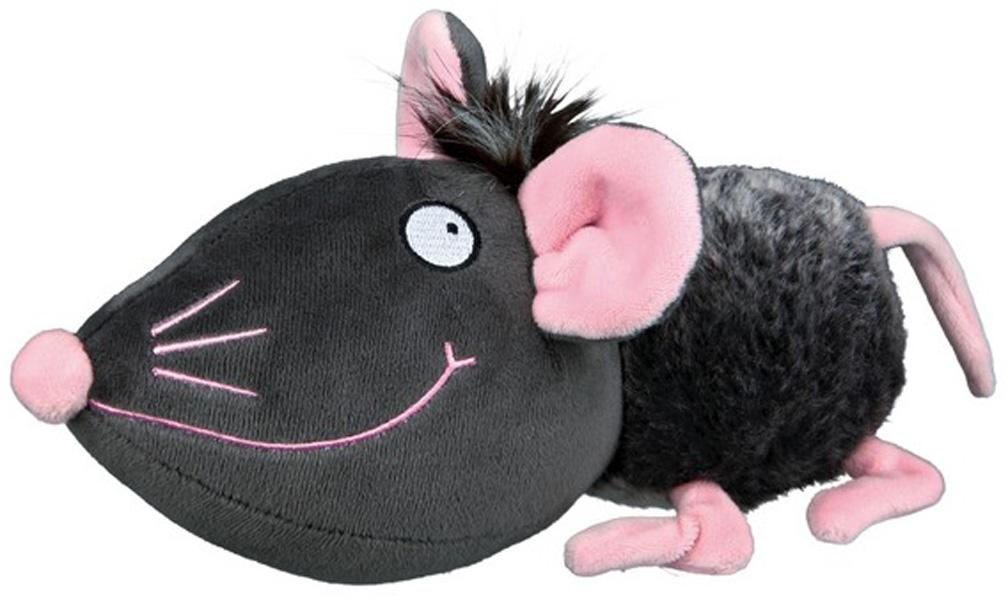 Trixie игрушка для собак Мышь плюшевая с пищалкой 33 см (1 шт)