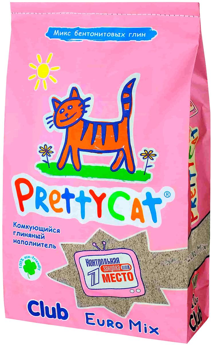 Pretty Cat Euro Mix наполнитель комкующийся для туалета кошек (2,5 кг)