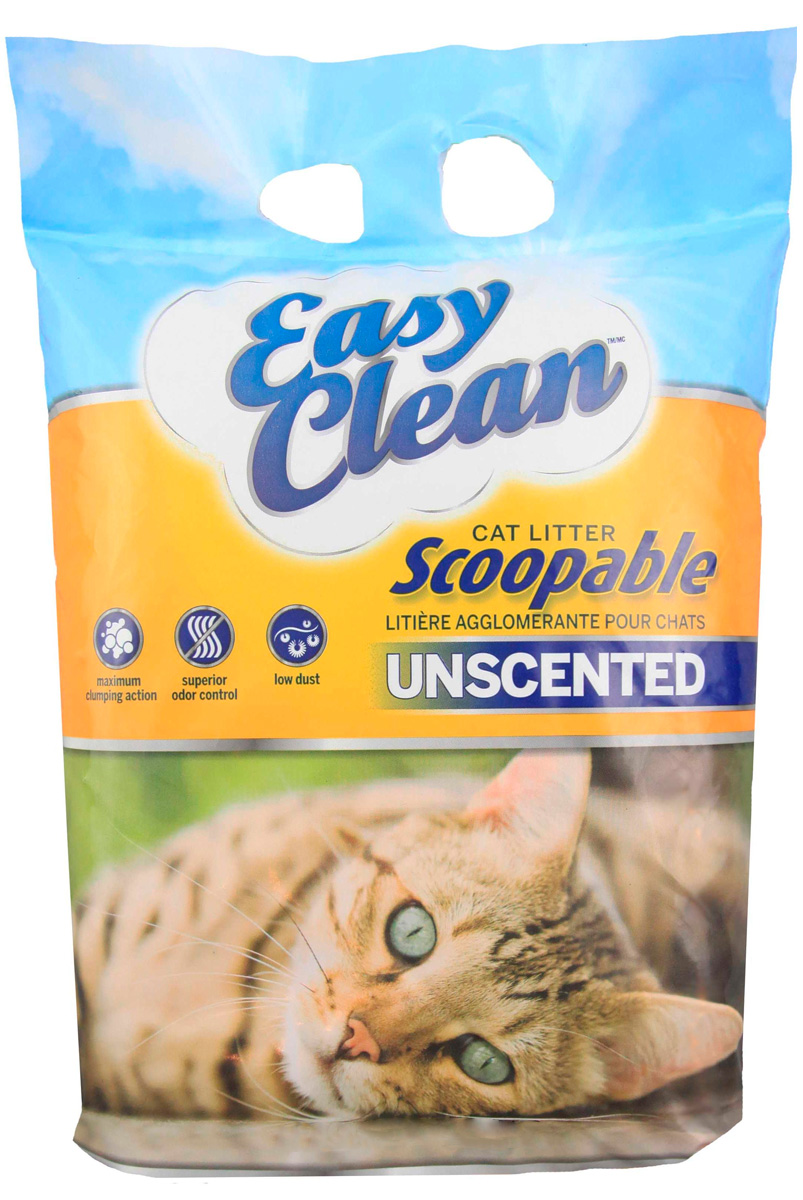 Easy Clean Unscented наполнитель комкующийся для туалета кошек без запаха (18,14 + 18,14 кг)
