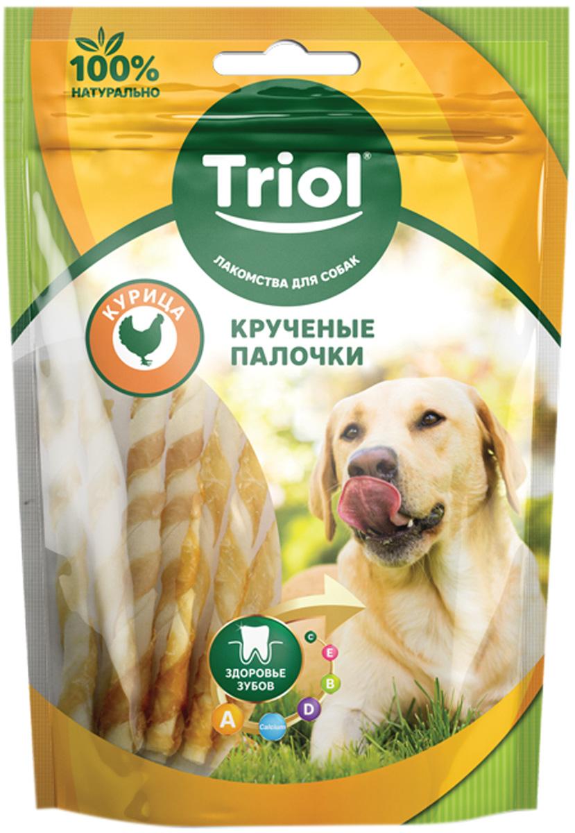 Лакомство Triol для собак палочки крученые с курицей 70 гр (1 шт)
