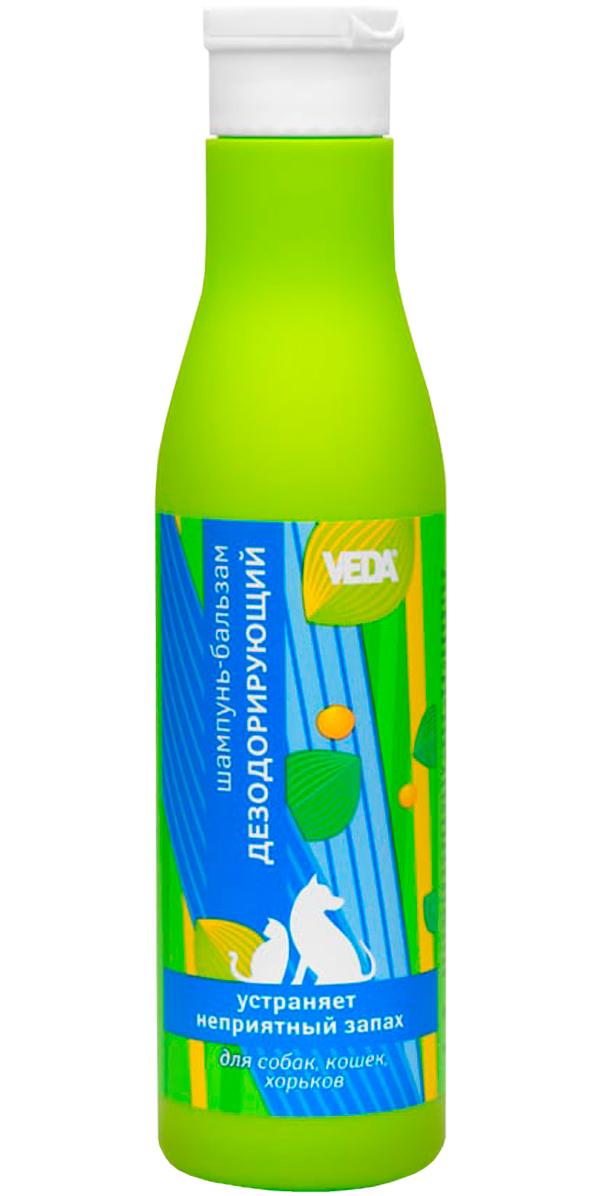 Veda фитошампунь-бальзам для собак и кошек дезодорирующий (250 мл).