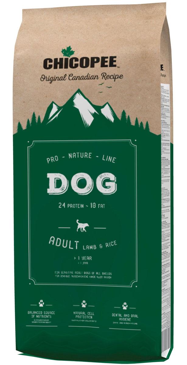 Фото - Chicopee Pro Nature Line Adult Lamb & Rice для взрослых собак всех пород с ягненком и рисом (20 + 20 кг) chicopee pro nature line adult maxi для взрослых собак крупных пород с птицей 20 кг