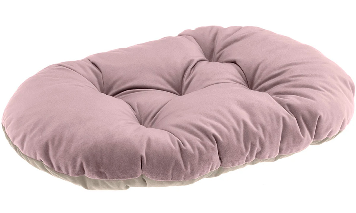 Подушка мягкая Ferplast Prince 45 велюр розово-бежевая 43 х 30 см (1 шт) ferplast ferplast prince cushion велюровая подушка для кошек и собак розово бежевая размер 45 45х30 см