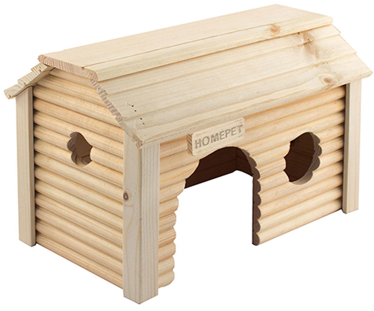 Домик усадьба для грызунов деревянный Homepet 19 х 31 х 185 см (1 шт).