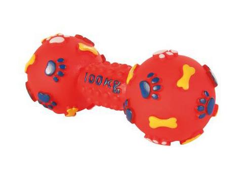 Trixie игрушка для собак «Гантель», с пищалкой (25 см)