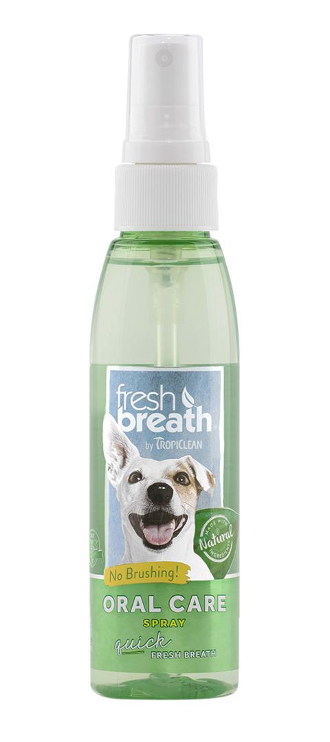 Tropiclean Fresh Breath Spray Oral Care спрей для собак чистки зубов Свежее дыхание (118 мл)