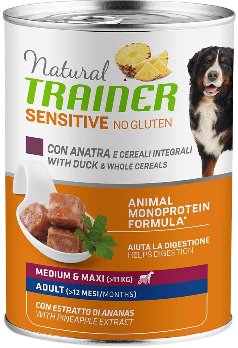 Trainer Natural Sensitive No Gluten Medium & Maxi Adult Duck безглютеновые для взрослых собак средних и крупных пород с уткой 400 гр (400 гр)