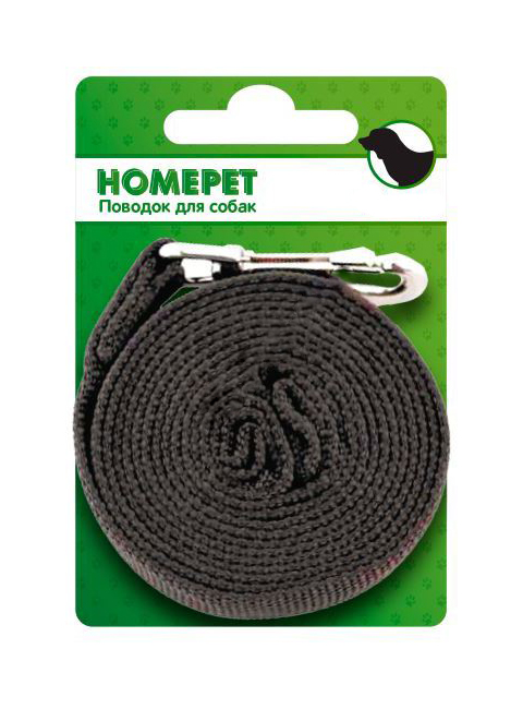 Фото - Поводок брезентовый для собак 25 мм 2 м Homepet (1 шт) поводок для собак homepet простроченный 52108 черный 1 2 м 8 мм