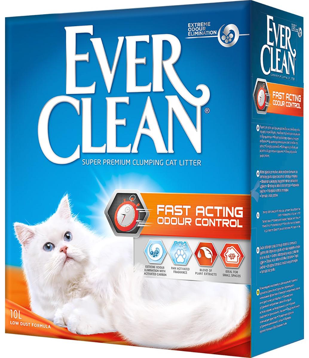 Фото #1: Ever Clean Fast Acting наполнитель комкующийся для туалета кошек быстрого действия (10 + 10 л)