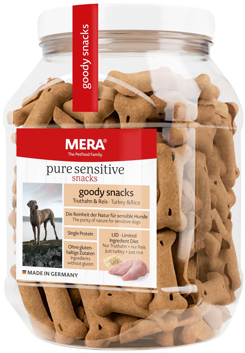Лакомство Mera Pure Sensitive Goody Snacs Truthahn & Reiseis для собак с чувствительным пищеварением снеки с индейкой и рисом 600 гр (1 шт)