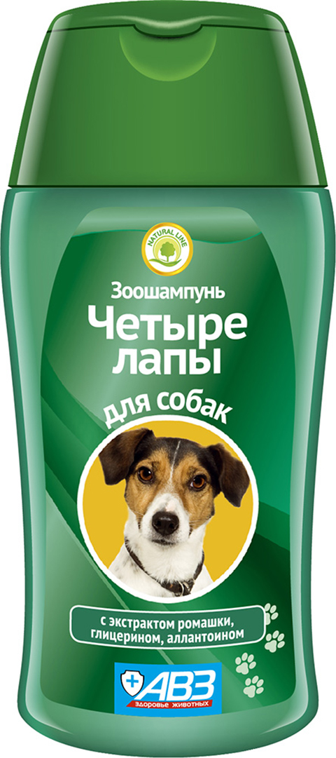Шампунь четыре лапы для собак для мытья лап авз (180 мл)