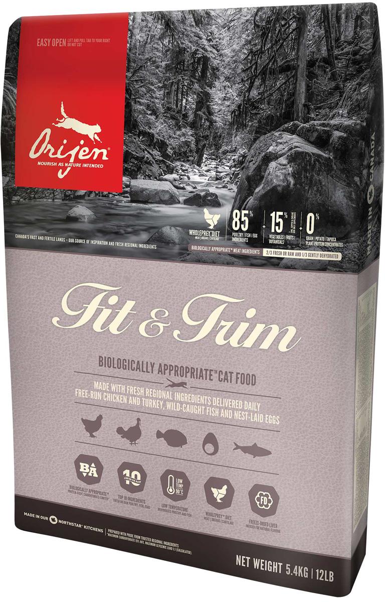 Orijen Cat Fit  Trim 85/15 диетический для взрослых кошек всех пород (034 кг).