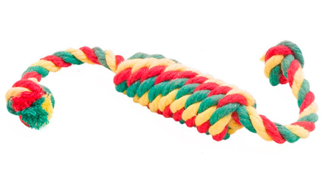 Игрушка для собак Doglike Dental Knot Сарделька канатная цветная большая (1 шт)