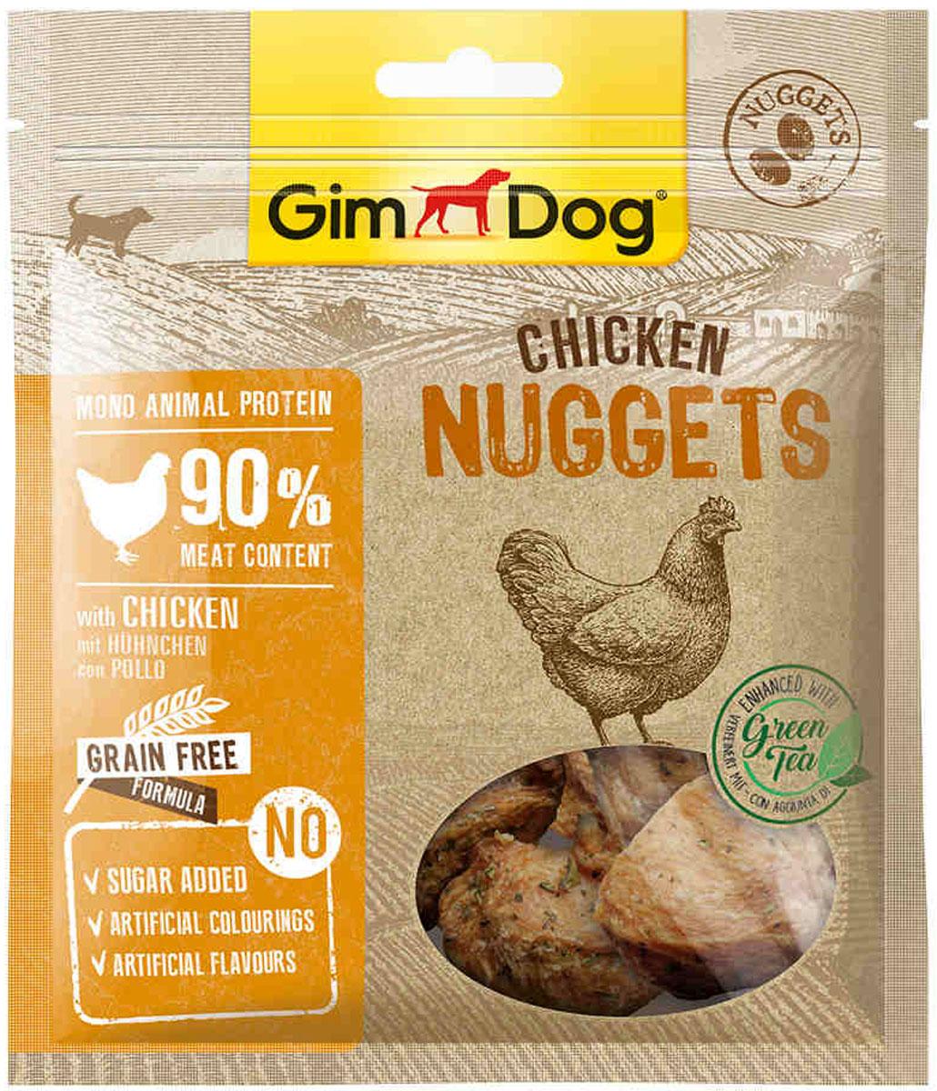 Лакомство GimDog для собак наггетсы с курицей ( 55 гр)