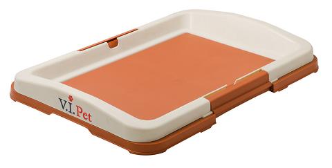 Туалет для собак японский стиль малый коричневый 48 х 35 х 6 см V.I.Pet (1 шт) туалет для собак v i pet японский стиль со столбиком цвет серый молочный 48 см х 35 см х 5 см
