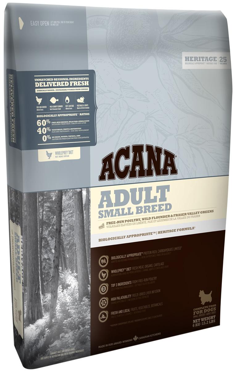 Acana Adult Small Breed для взрослых собак маленьких пород (2 + 2 кг)