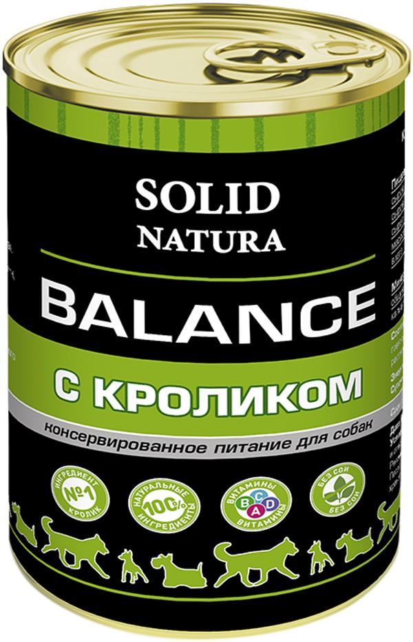 Solid Natura Balance для взрослых собак с кроликом 340 гр (340 гр) фото