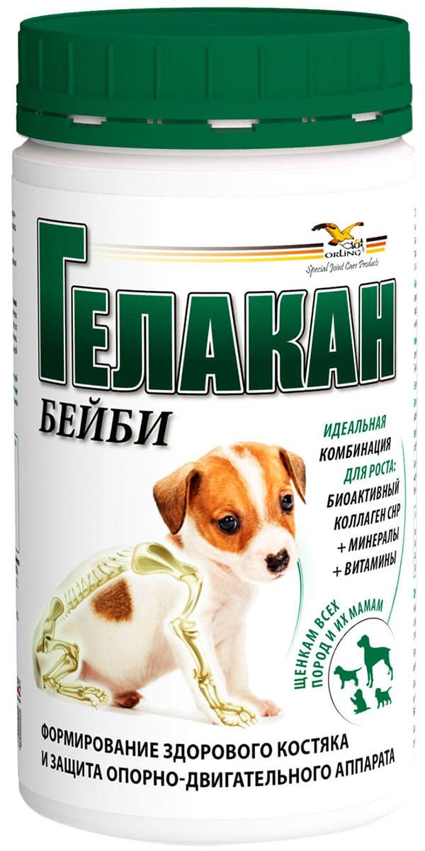 гелакан бейби белково-витаминно-минеральный комплекс для костей и суставов щенков беременных и кормящих сук (500 гр).