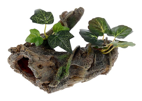 Декор грот для аквариума Коряга с растением, 17 х 12 х 12 см, Barbus, Decor 026 (1 шт)