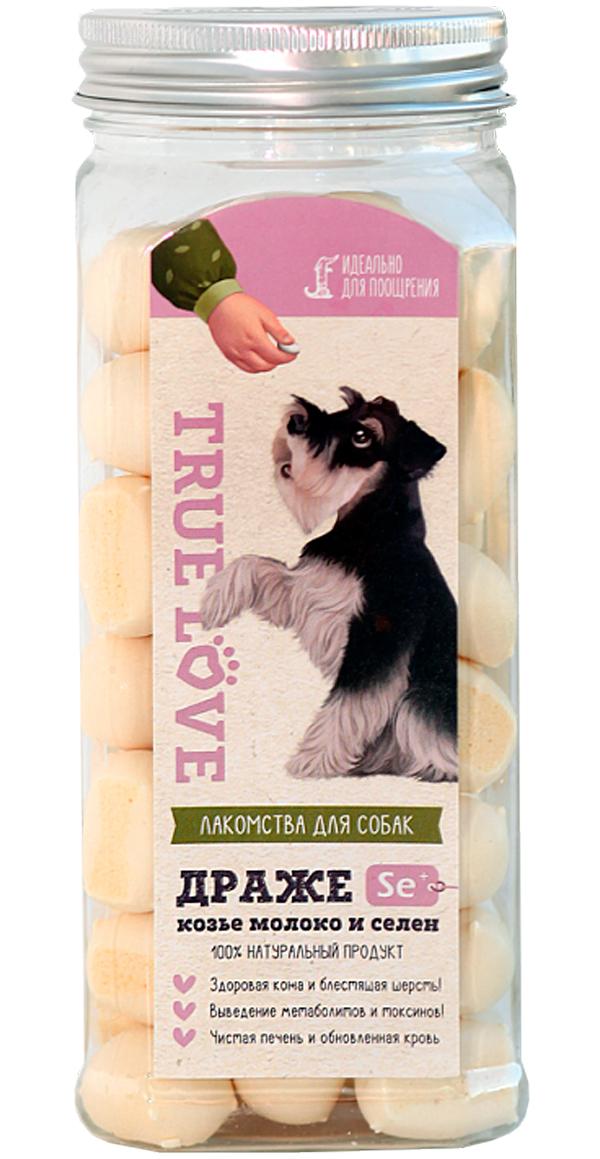 Лакомство Green Qzin True Love для собак маленьких пород драже из козьего молока с селеном 140 гр (1 шт)