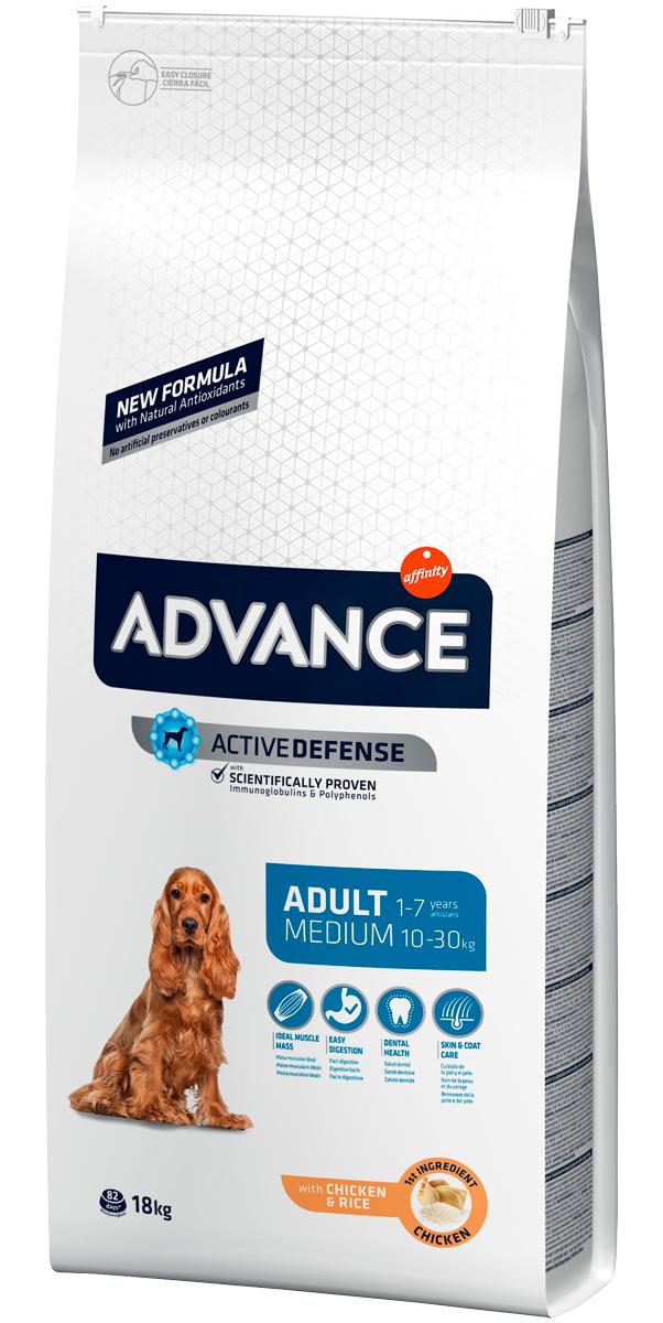 Advance Adult Medium Chicken & Rice для взрослых собак средних пород с курицей и рисом (14 кг)