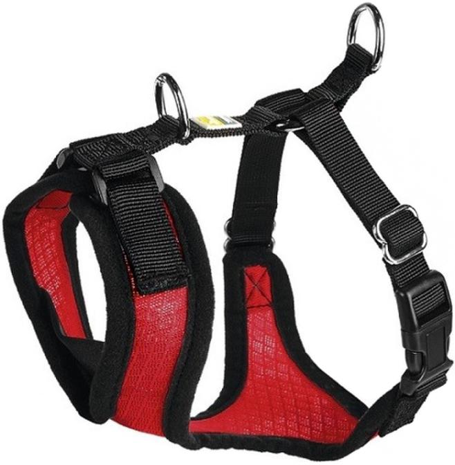 Шлейка для собак Hunter Manoa S нейлон сетчатый текстиль красная 38 - 47 см (1 шт) rod халат парикмахерский черный с желтой каймой 5 размеров s 1 шт