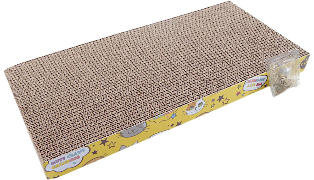Когтеточка коврик Pet Choice картонная с кошачьей мятой 44 х 23 х 4 см (1 шт)
