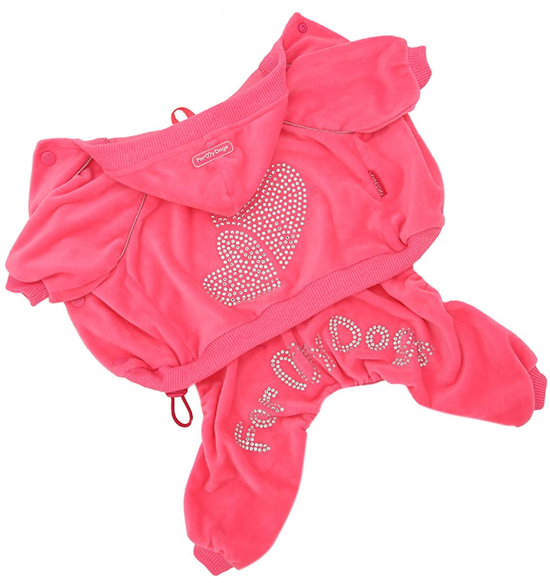 For My Dogs костюм для собак велюр розовый 492ss-2020 P (8)