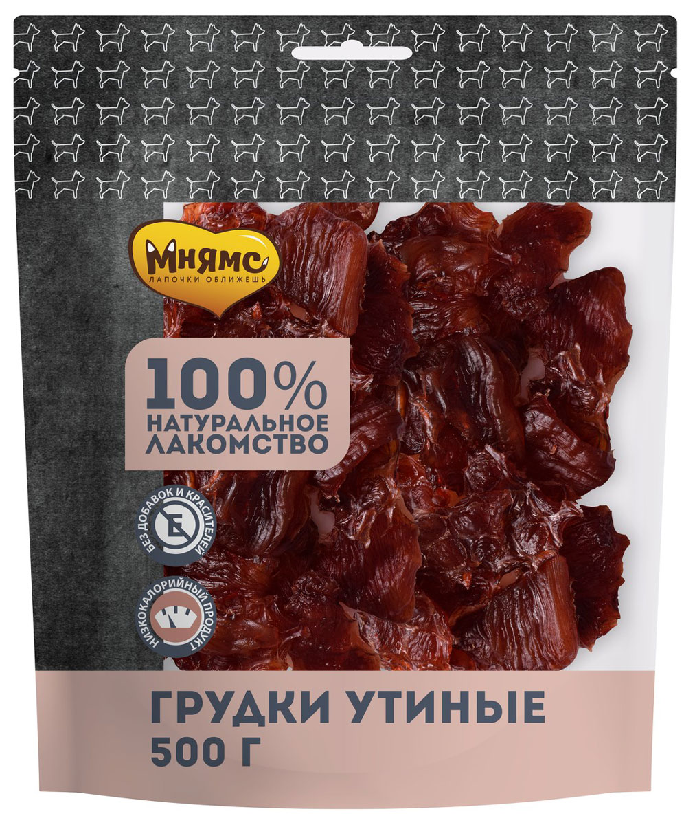 Лакомство мнямс для собак грудки утиные сушеные 500 гр  (1 шт)