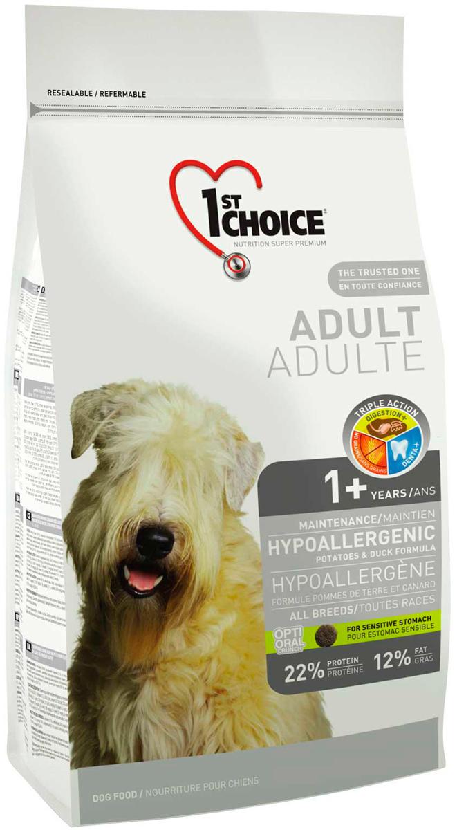 1st Choice Dog Adult All Breeds Hypoallergenic беззерновой для взрослых собак всех пород при аллергии с уткой и картофелем (0,35 кг)