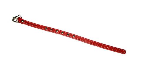 Ошейник для собак кожаный красный 22 - 29 см x 14 мм Аркон (1 шт)