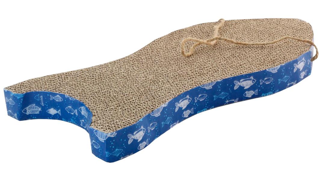 Когтеточка лежанка Triol Рыбка гофрокартон с кошачьей мятой 47 х 23 х 4 см (1 шт)