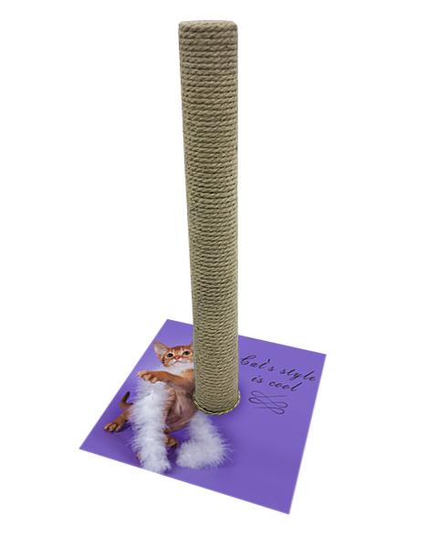Когтеточка Столбик PerseiLine Дизайн Cat's style джут 54 х 31 см (1 шт)