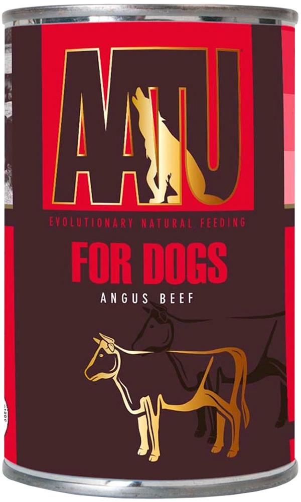 Aatu Dog Angus Beef беззерновые для взрослых собак с говядиной 400 гр (400 гр х 6 шт)