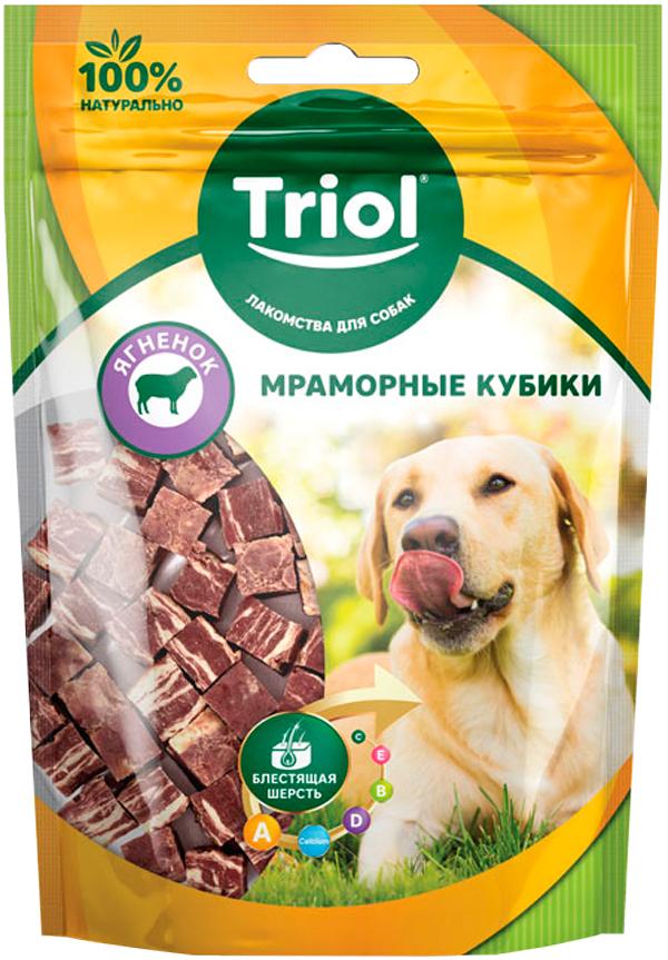Лакомство Triol для собак кубики мраморные с ягненком 70 гр (1 шт)