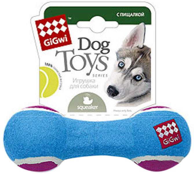 Игрушка для собак GiGwi Гантеля с пищалкой средняя 18 см (1 шт)