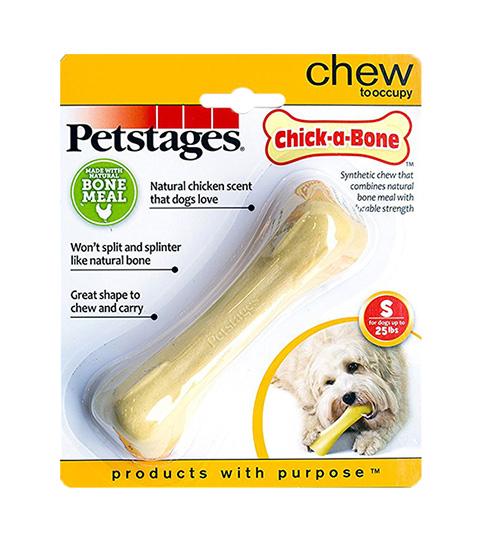 Petstages игрушка для собак Chick-a-bone Косточка с ароматом курицы малая 11 см (1 шт)