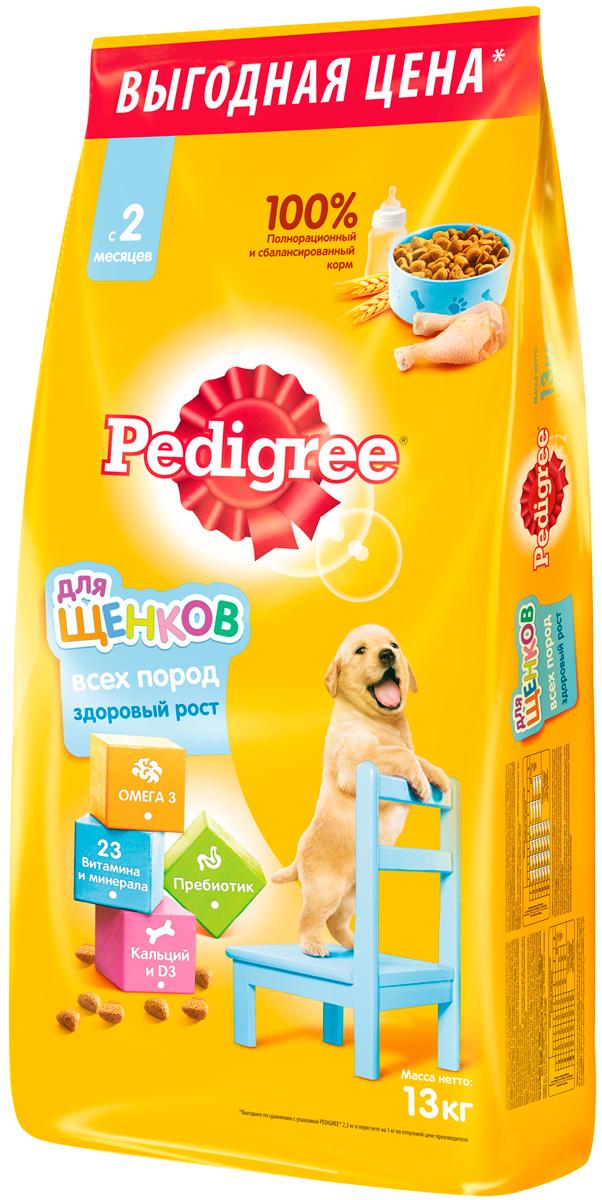 Pedigree для щенков всех пород с курицей (13 кг)