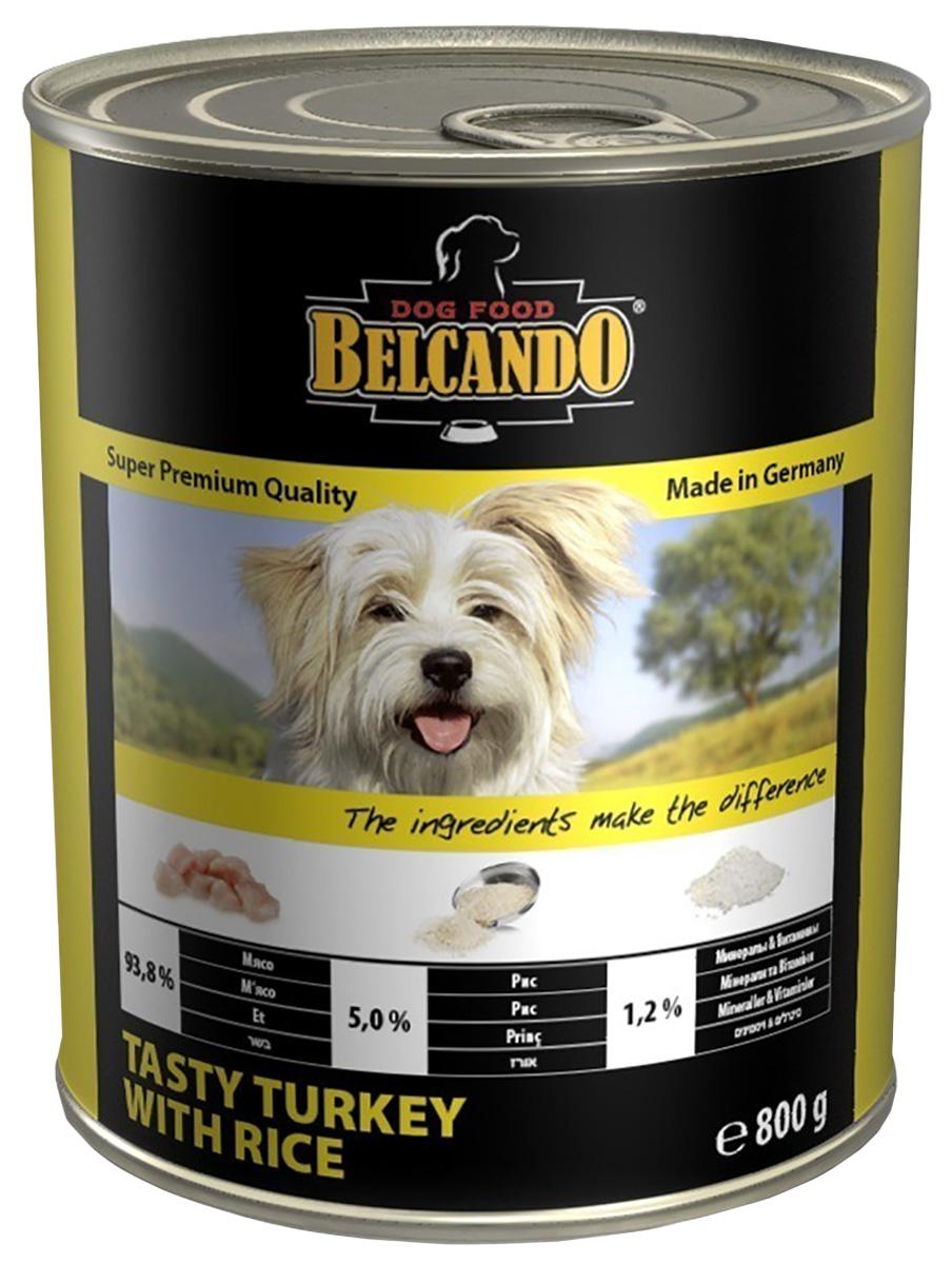Belcando Tasty Turkey With Rice для взрослых собак с индейкой и рисом (800 гр х 6 шт)