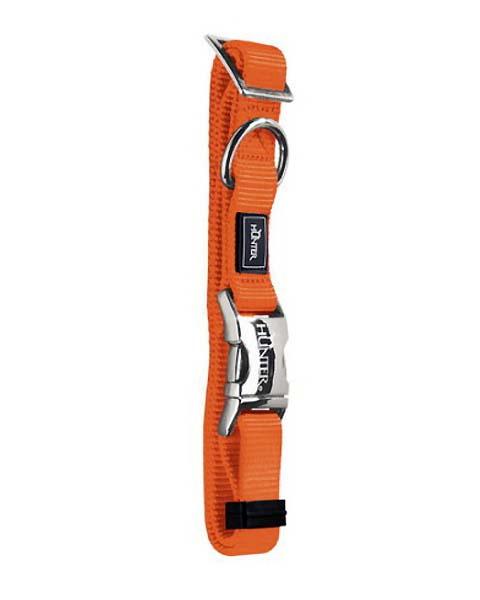 Ошейник для собак нейлон с металлической застежкой оранжевый 45 – 65 см Hunter ALU-Strong (1 шт)