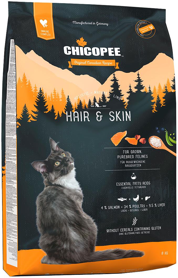 Chicopee Holistic Nature Line Cat Adult Hair & Skin для взрослых кошек с чувствительной кожей и шерстью (1,5 кг)