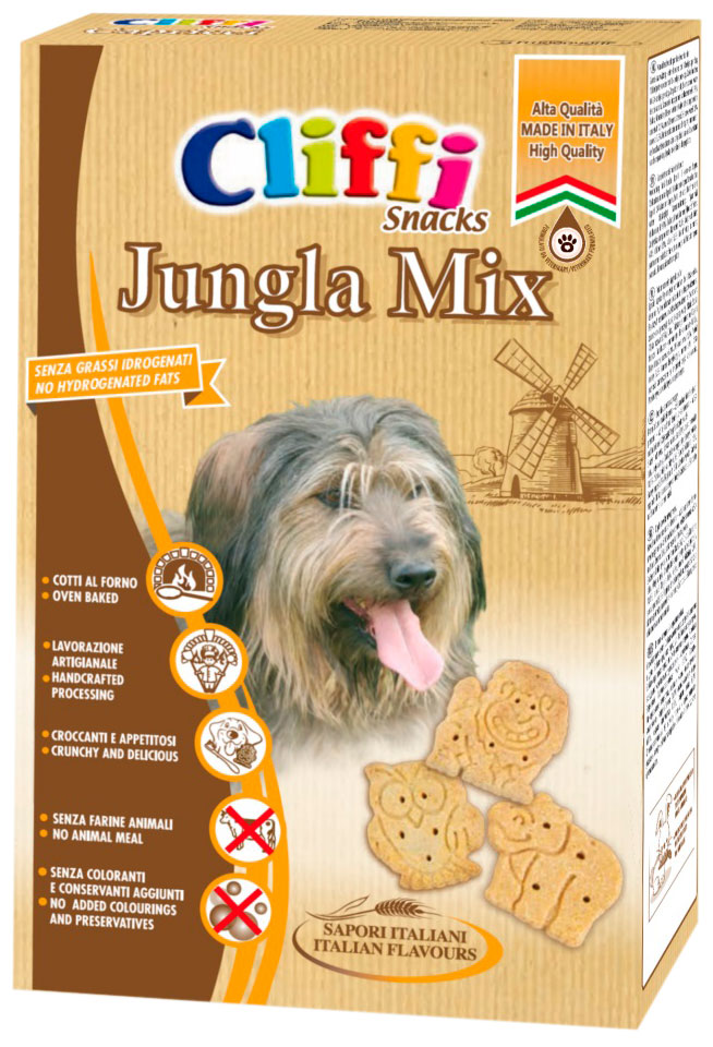 Лакомство Cliffi Jungla mix для взрослых собак всех пород хрустящее печенье 400 гр (1 шт)